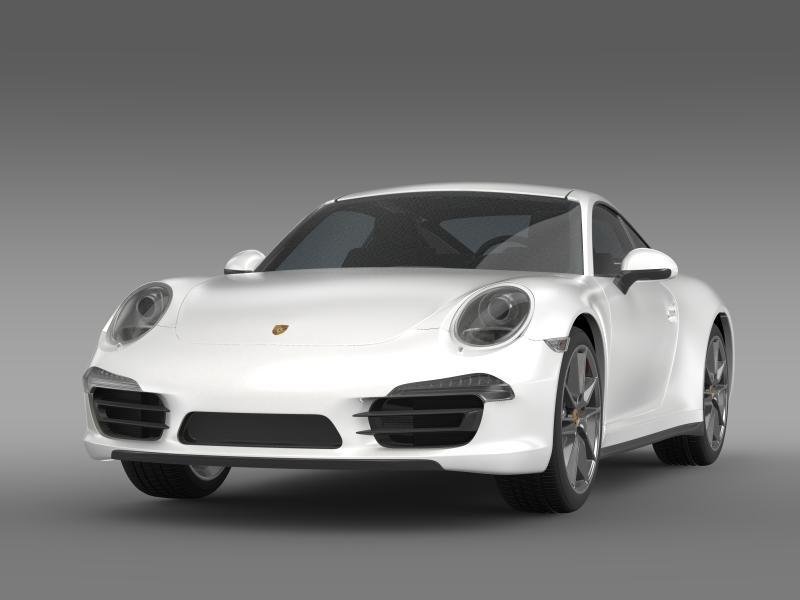 porsche 911 carerra 2013 3d model 3ds max fbx c4d lwo ma mb hrc xsi obj 153627