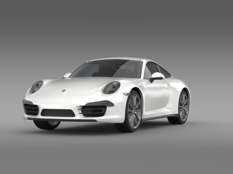 porsche 911 carerra 2013 3d model 3ds max fbx c4d lwo ma mb hrc xsi obj 153628