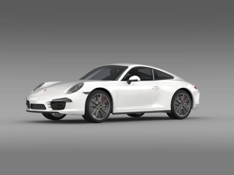 porsche 911 carerra 2013 3d model 3ds max fbx c4d lwo ma mb hrc xsi obj 153629