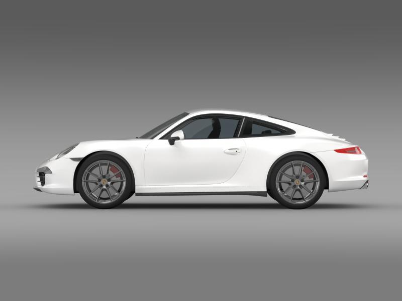 porsche 911 carerra 2013 3d model 3ds max fbx c4d lwo ma mb hrc xsi obj 153630