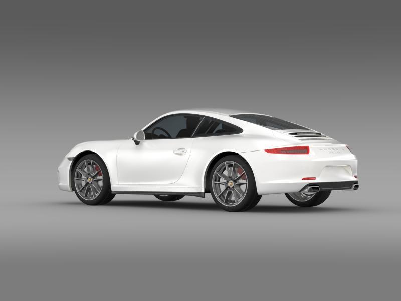 porsche 911 carerra 2013 3d model 3ds max fbx c4d lwo ma mb hrc xsi obj 153631