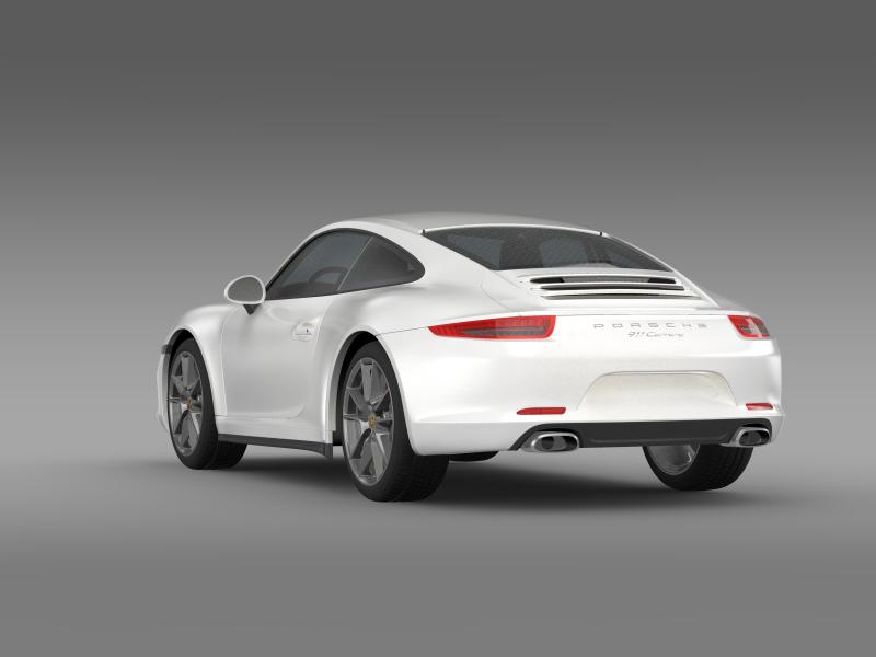 porsche 911 carerra 2013 3d model 3ds max fbx c4d lwo ma mb hrc xsi obj 153632