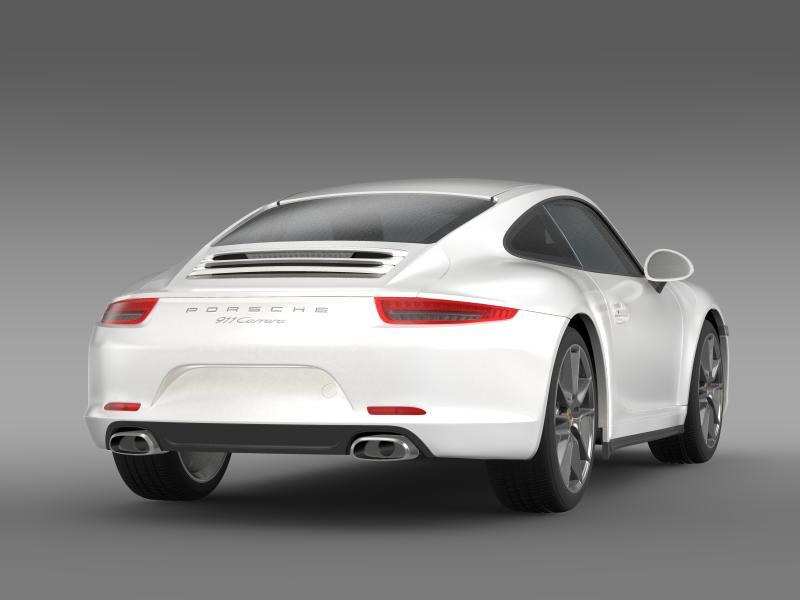 porsche 911 carerra 2013 3d model 3ds max fbx c4d lwo ma mb hrc xsi obj 153633