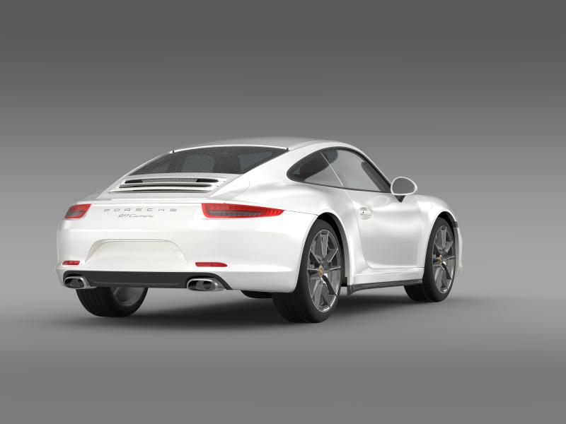 porsche 911 carerra 2013 3d model 3ds max fbx c4d lwo ma mb hrc xsi obj 153634