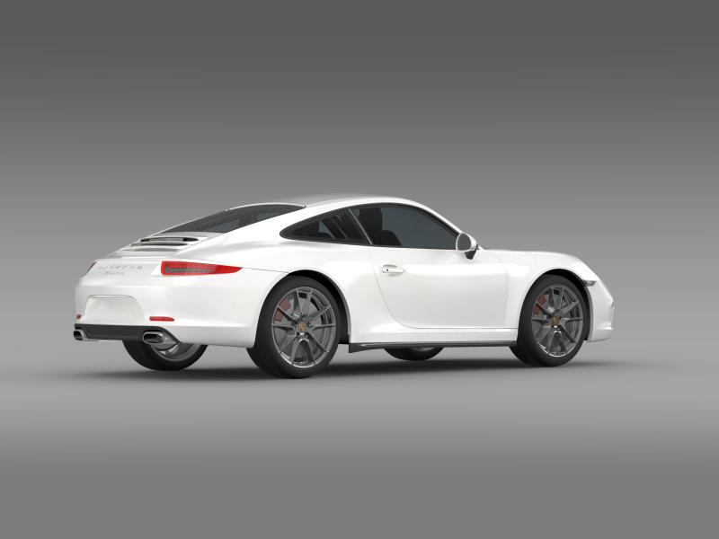 porsche 911 carerra 2013 3d model 3ds max fbx c4d lwo ma mb hrc xsi obj 153635