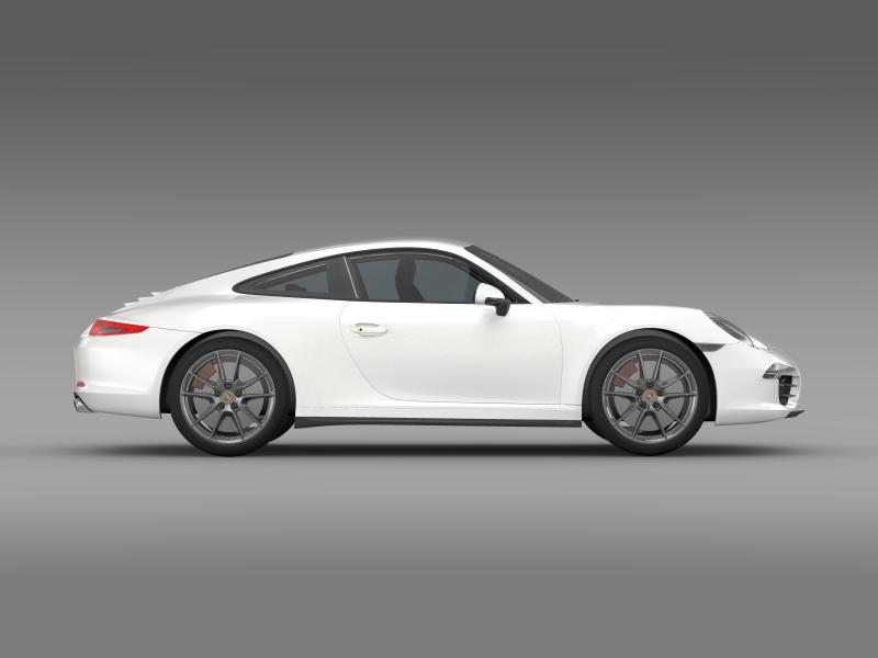 porsche 911 carerra 2013 3d model 3ds max fbx c4d lwo ma mb hrc xsi obj 153636