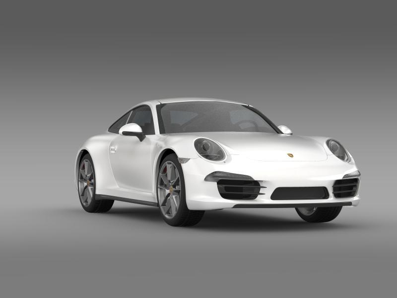 porsche 911 carerra 2013 3d model 3ds max fbx c4d lwo ma mb hrc xsi obj 153638