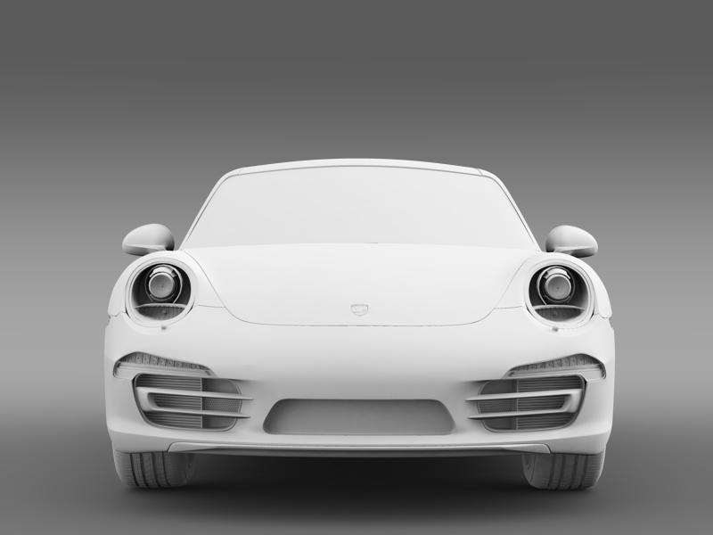 porsche 911 carerra 2013 3d model 3ds max fbx c4d lwo ma mb hrc xsi obj 153639