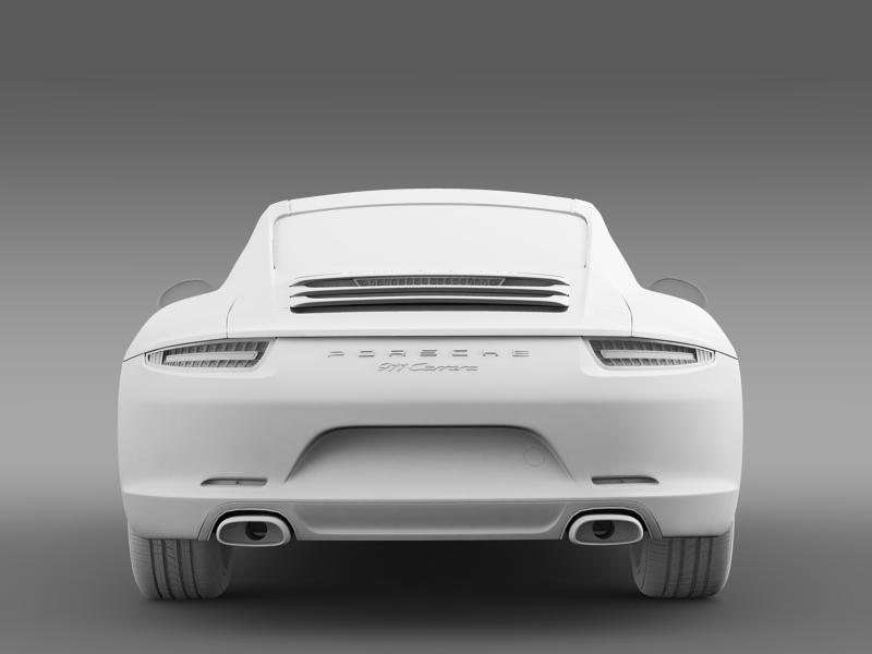 porsche 911 carerra 2013 3d model 3ds max fbx c4d lwo ma mb hrc xsi obj 153640