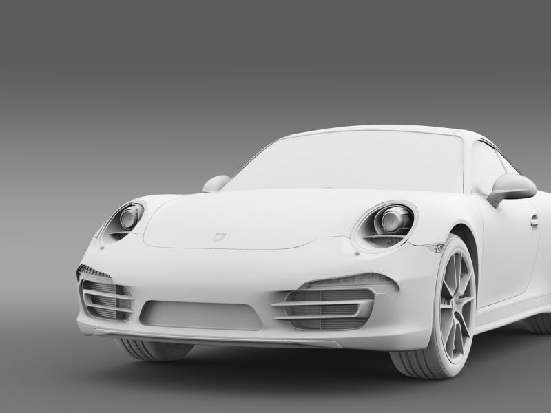 porsche 911 carerra 2013 3d model 3ds max fbx c4d lwo ma mb hrc xsi obj 153641