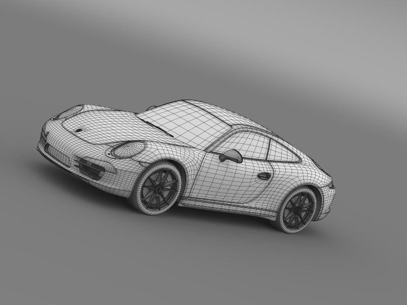 porsche 911 carerra 2013 3d model 3ds max fbx c4d lwo ma mb hrc xsi obj 153642