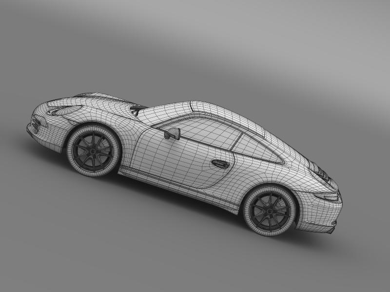 porsche 911 carerra 2013 3d model 3ds max fbx c4d lwo ma mb hrc xsi obj 153643