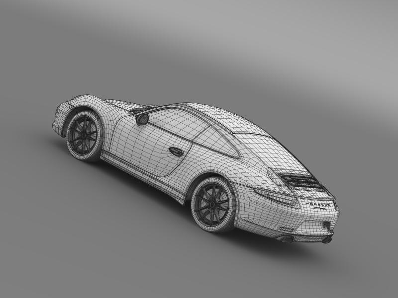 porsche 911 carerra 2013 3d model 3ds max fbx c4d lwo ma mb hrc xsi obj 153644