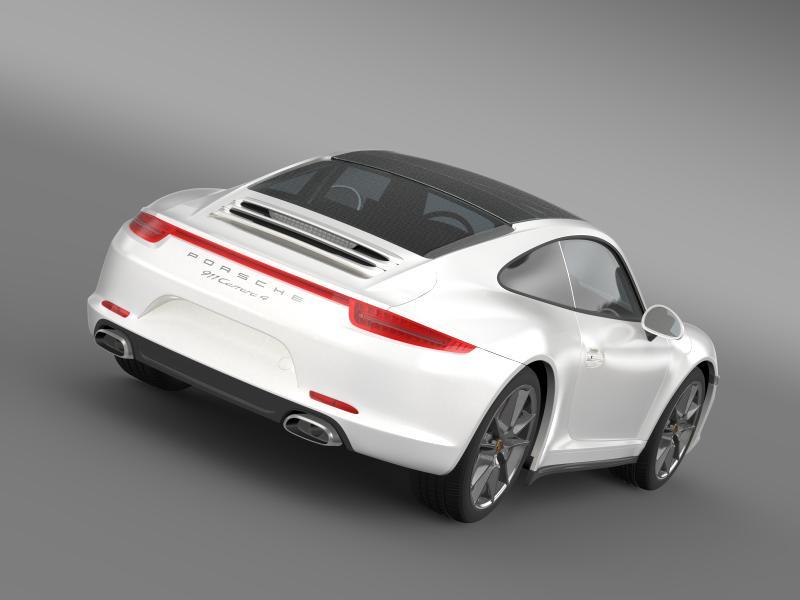 porsche 911 carerra 4 2013 3d model 3ds max fbx c4d lwo ma mb hrc xsi obj 153646
