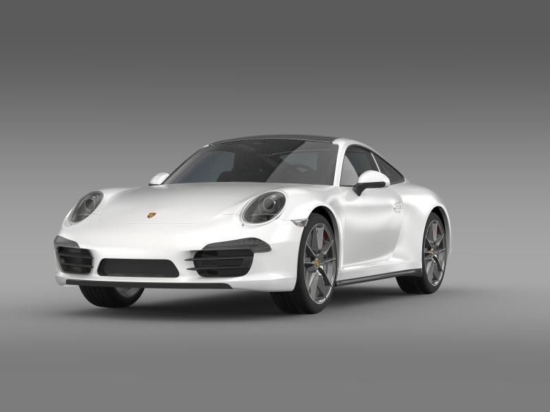 porsche 911 carerra 4 2013 3d model 3ds max fbx c4d lwo ma mb hrc xsi obj 153648