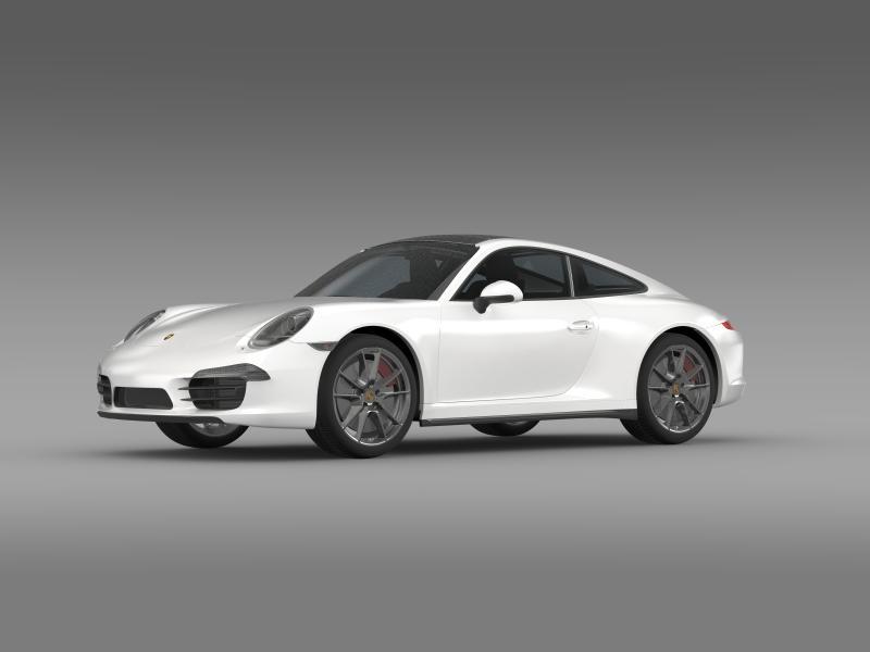 porsche 911 carerra 4 2013 3d model 3ds max fbx c4d lwo ma mb hrc xsi obj 153649