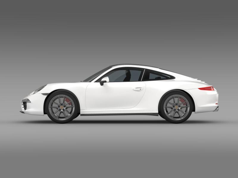 porsche 911 carerra 4 2013 3d model 3ds max fbx c4d lwo ma mb hrc xsi obj 153650