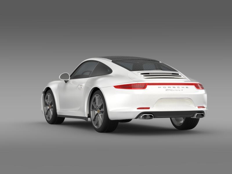 porsche 911 carerra 4 2013 3d model 3ds max fbx c4d lwo ma mb hrc xsi obj 153652
