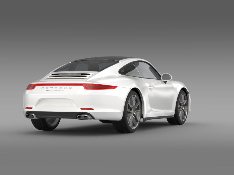 porsche 911 carerra 4 2013 3d model 3ds max fbx c4d lwo ma mb hrc xsi obj 153654