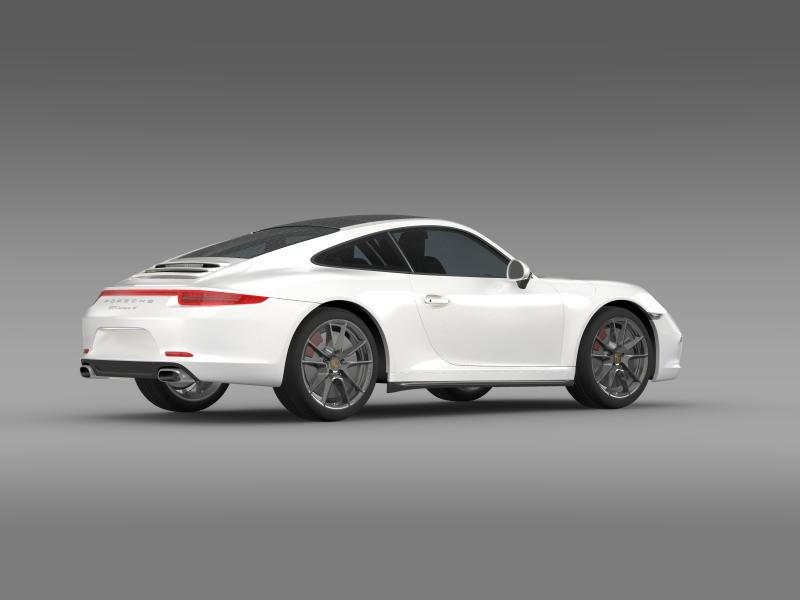 porsche 911 carerra 4 2013 3d model 3ds max fbx c4d lwo ma mb hrc xsi obj 153655
