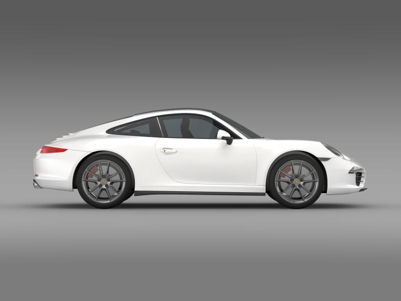 porsche 911 carerra 4 2013 3d model 3ds max fbx c4d lwo ma mb hrc xsi obj 153656