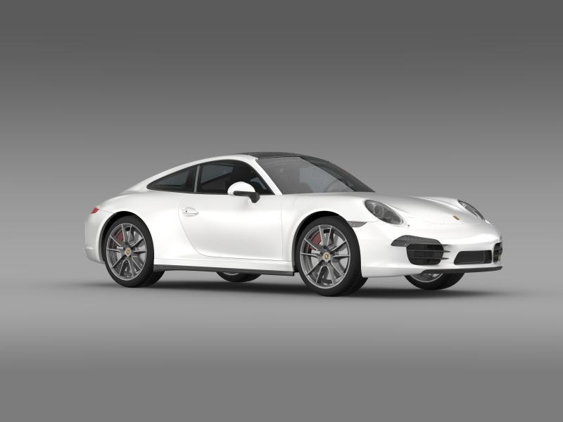 porsche 911 carerra 4 2013 3d model 3ds max fbx c4d lwo ma mb hrc xsi obj 153657