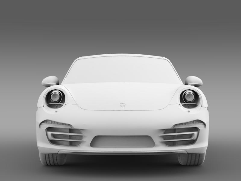 porsche 911 carerra 4 2013 3d model 3ds max fbx c4d lwo ma mb hrc xsi obj 153659