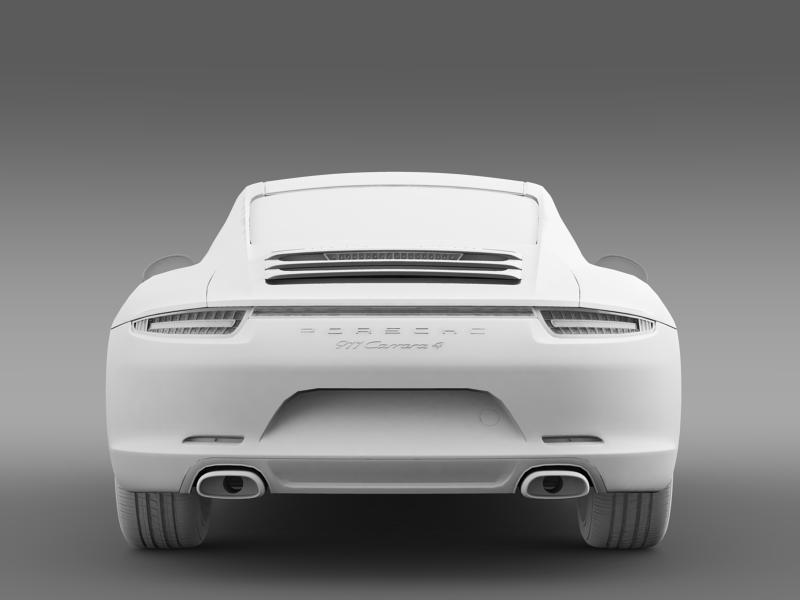 porsche 911 carerra 4 2013 3d model 3ds max fbx c4d lwo ma mb hrc xsi obj 153660