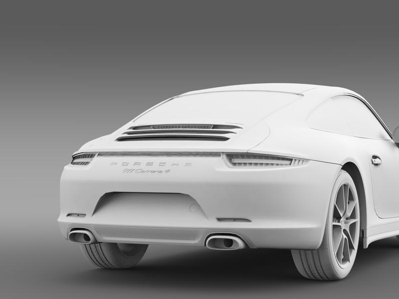 porsche 911 carerra 4 2013 3d model 3ds max fbx c4d lwo ma mb hrc xsi obj 153662