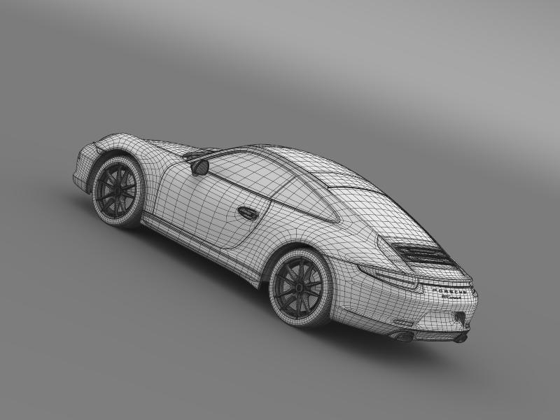 porsche 911 carerra 4 2013 3d model 3ds max fbx c4d lwo ma mb hrc xsi obj 153665