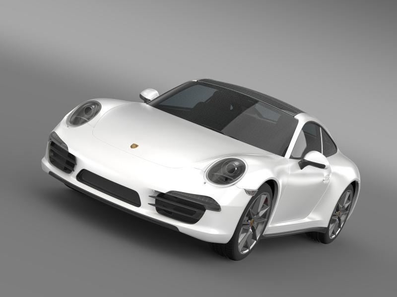 porsche 911 carerra 4 cabrio 2013 3d model 3ds max fbx c4d