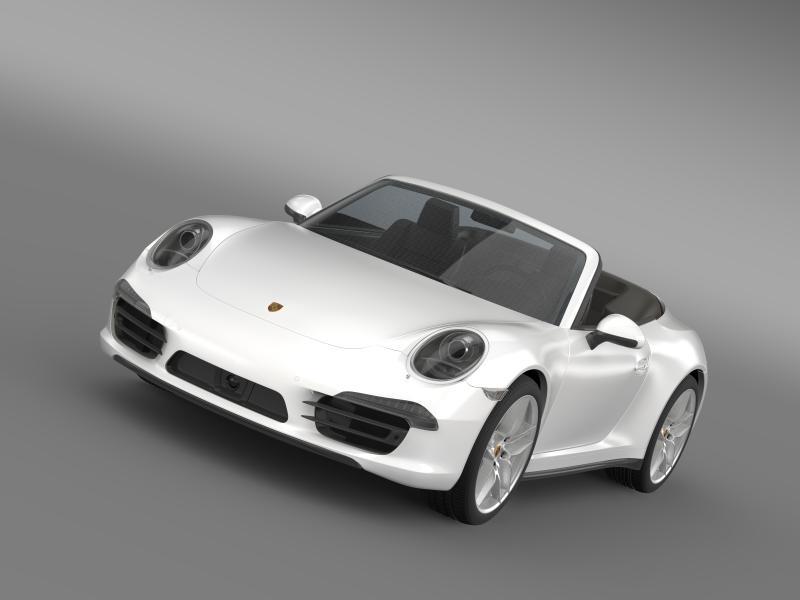 porsche 911 carerra 4s cabrio 2013 3d model 3ds max fbx c4d