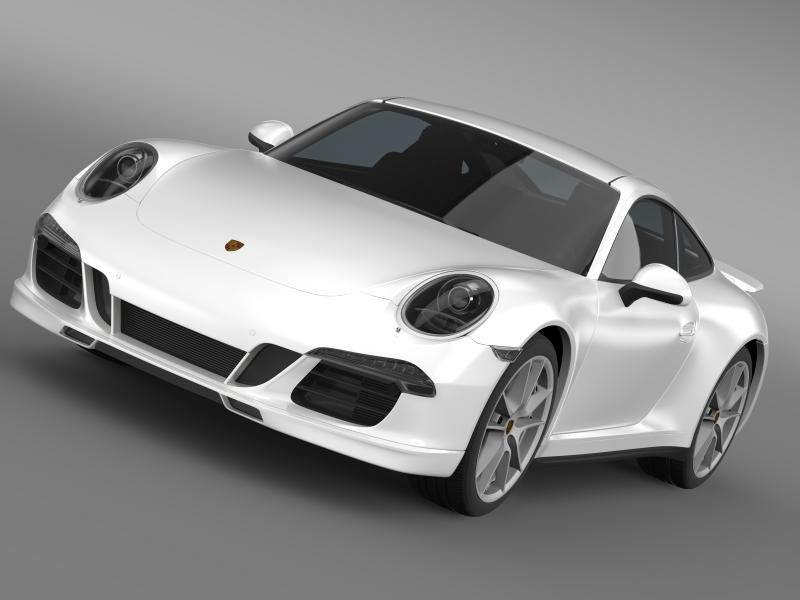 porsche 911 carerra 4s facebook 5m1 3d model 3ds max fbx c4d lwo ma mb hrc xsi obj 159835