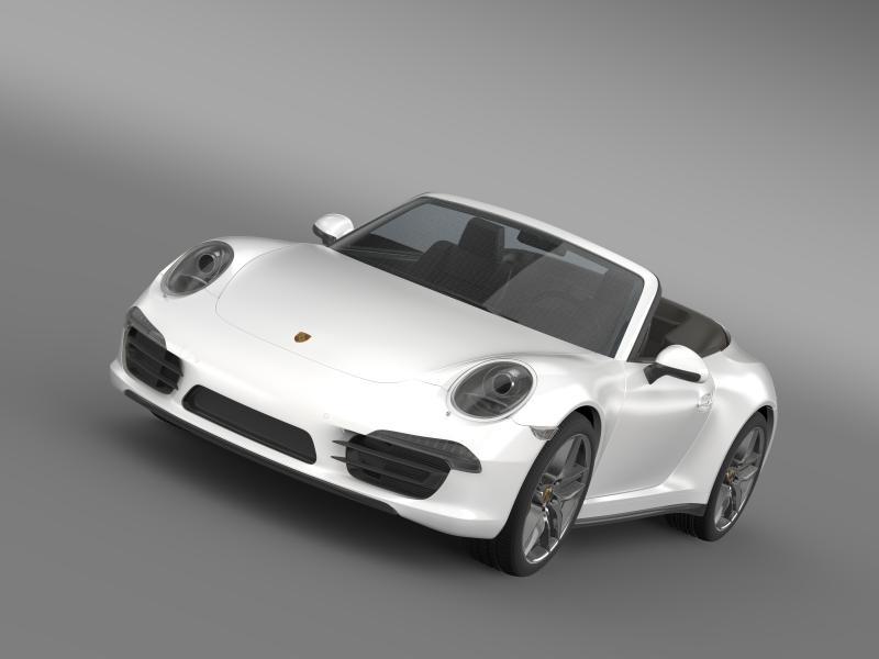 porsche 911 carerra cabrio 2013 3d model 3ds max fbx c4d lwo ma mb hrc xsi obj 153748