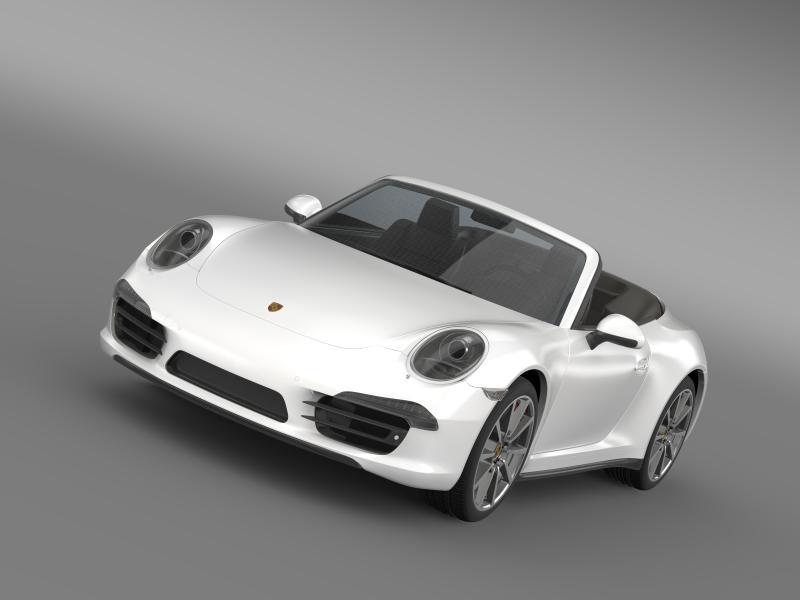 porsche 911 carerra s cabrio 2013 3d model 3ds max fbx c4d lwo ma mb hrc xsi obj 153769