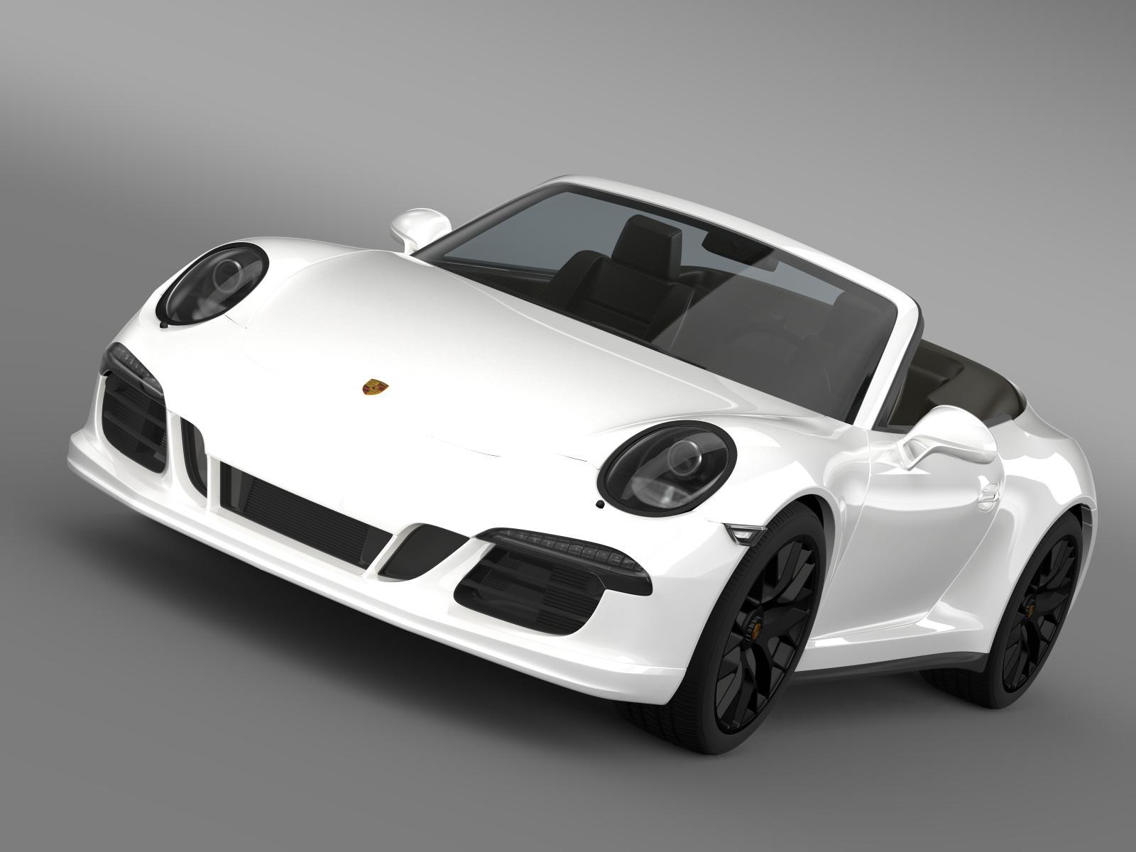 porsche 911 carrera 4 gts cabriolet 991 2015 3d model 3ds max fbx c4d lwo ma mb hrc xsi obj 164748