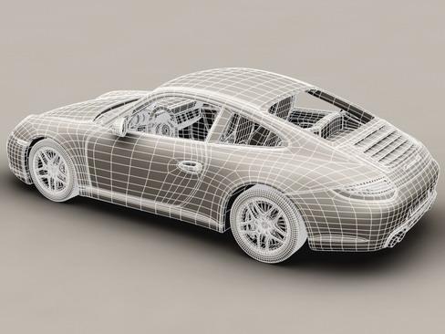 porsche 911 carrera 4s 3d model 3ds max c4d lwo ma mb obj 127837