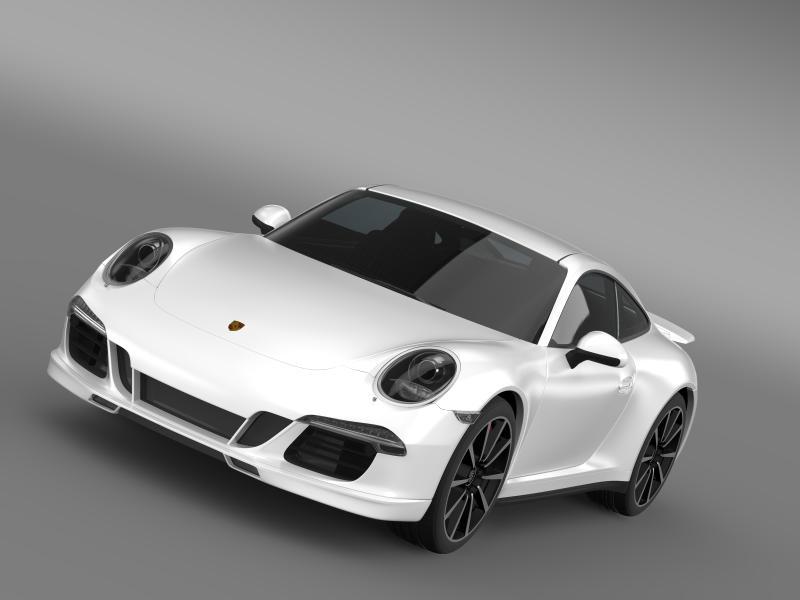 porsche 911 carrera 4s aerokit kup 3d model 3ds max fbx c4d lwo ma mb hrc xsi obj 160069