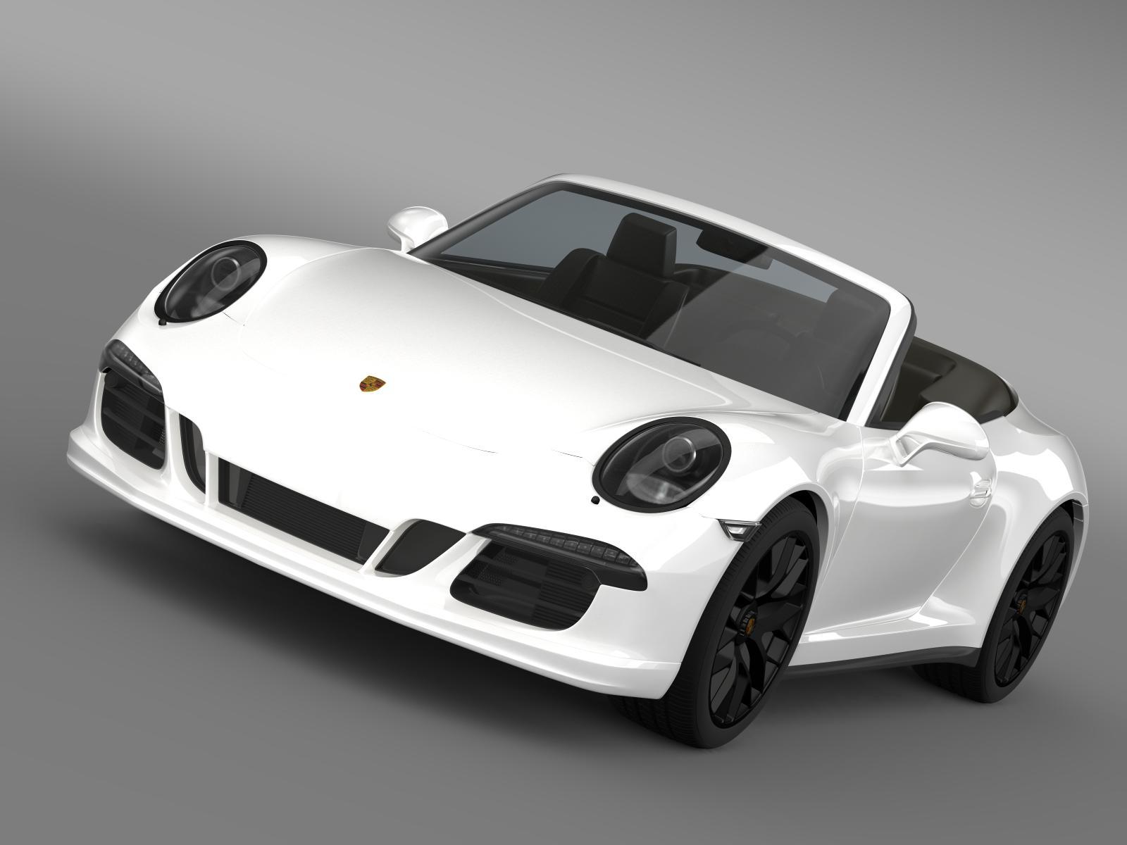 porsche 911 carrera gts cabriolet 991 2015 3d model 3ds max fbx c4d lwo ma mb hrc xsi obj 164786