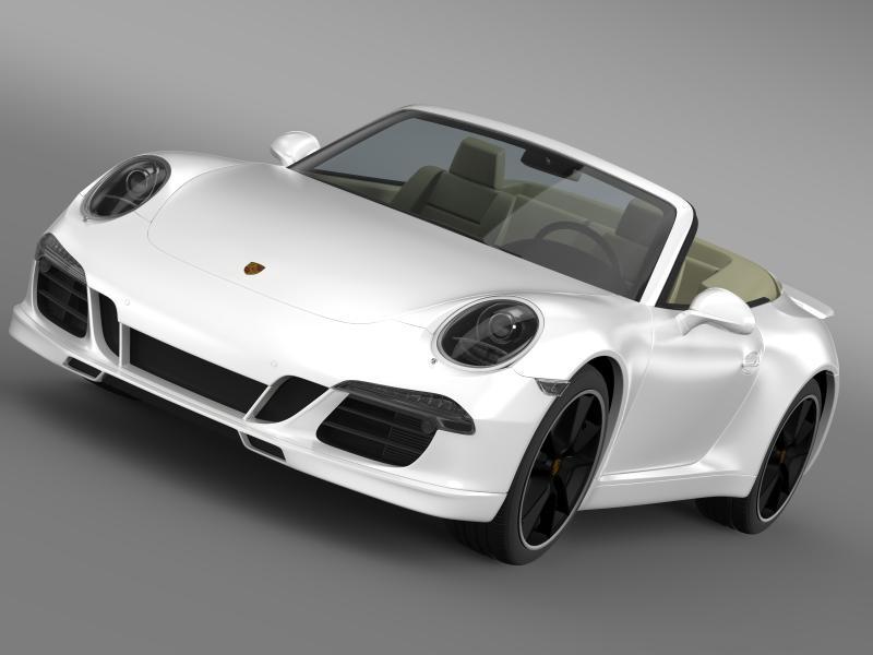 porsche 911 convertible exclusive 3d model 3ds max fbx c4d lwo ma mb hrc xsi obj 159877