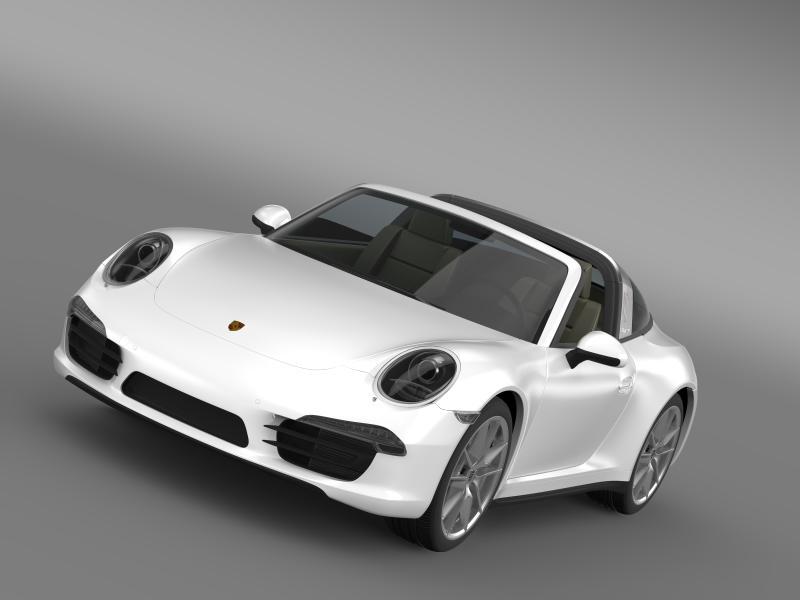 porsche 911 targa 4 2014 3d model 3ds max fbx c4d lwo ma