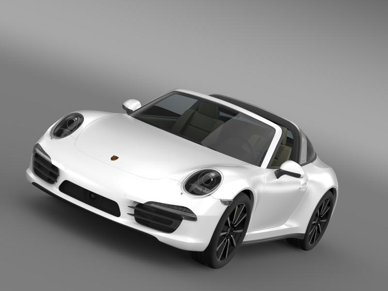 porsche 911 targa 4s 2014 3d model 3ds max fbx c4d