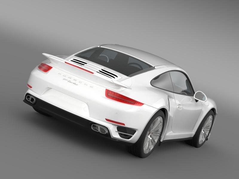 porsche 911 turbo 2013 3d model 3ds max fbx c4d lwo ma mb hrc xsi obj 156070