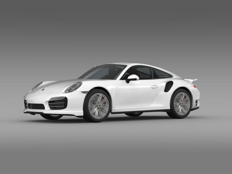 porsche 911 turbo 2013 3d model 3ds max fbx c4d lwo ma mb hrc xsi obj 156073