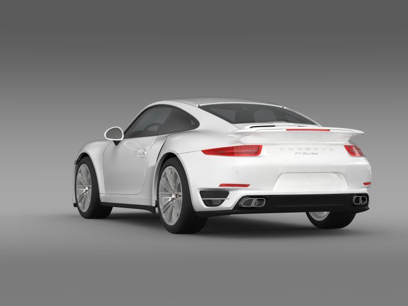 porsche 911 turbo 2013 3d model 3ds max fbx c4d lwo ma mb hrc xsi obj 156076