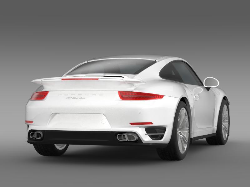 porsche 911 turbo 2013 3d model 3ds max fbx c4d lwo ma mb hrc xsi obj 156077