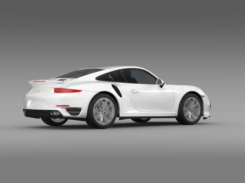 porsche 911 turbo 2013 3d model 3ds max fbx c4d lwo ma mb hrc xsi obj 156079