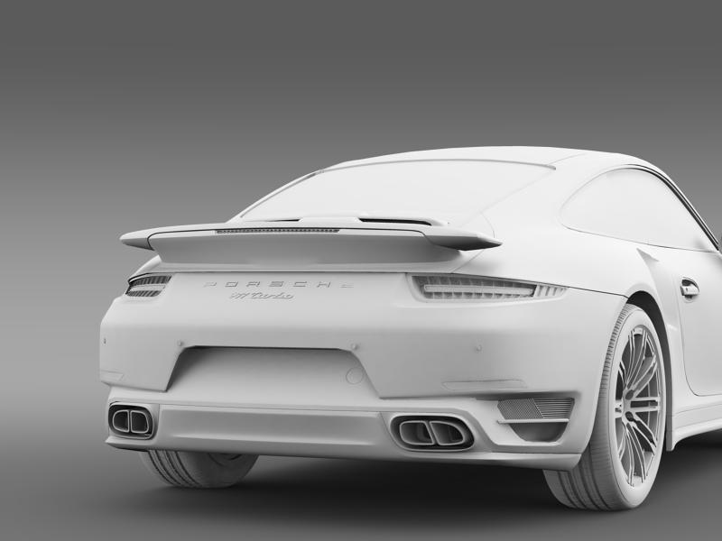 porsche 911 turbo 2013 3d model 3ds max fbx c4d lwo ma mb hrc xsi obj 156086