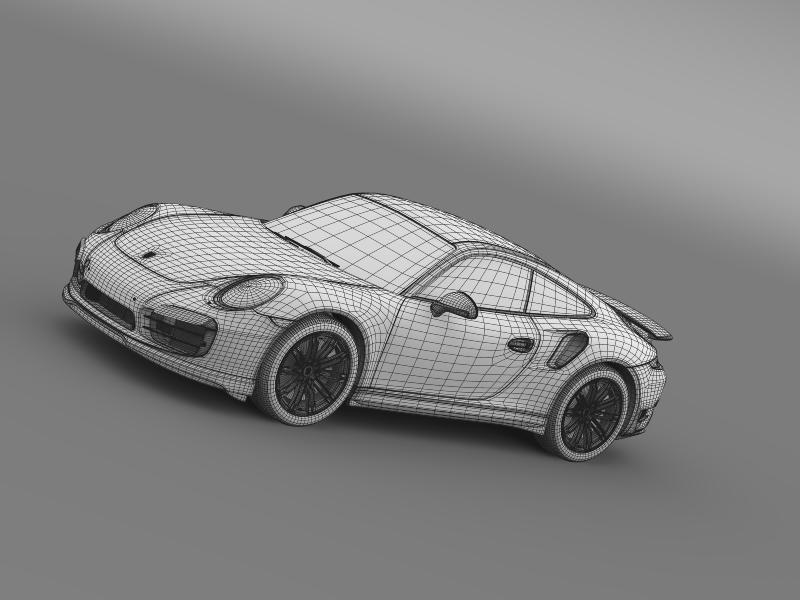 porsche 911 turbo 2013 3d model 3ds max fbx c4d lwo ma mb hrc xsi obj 156087