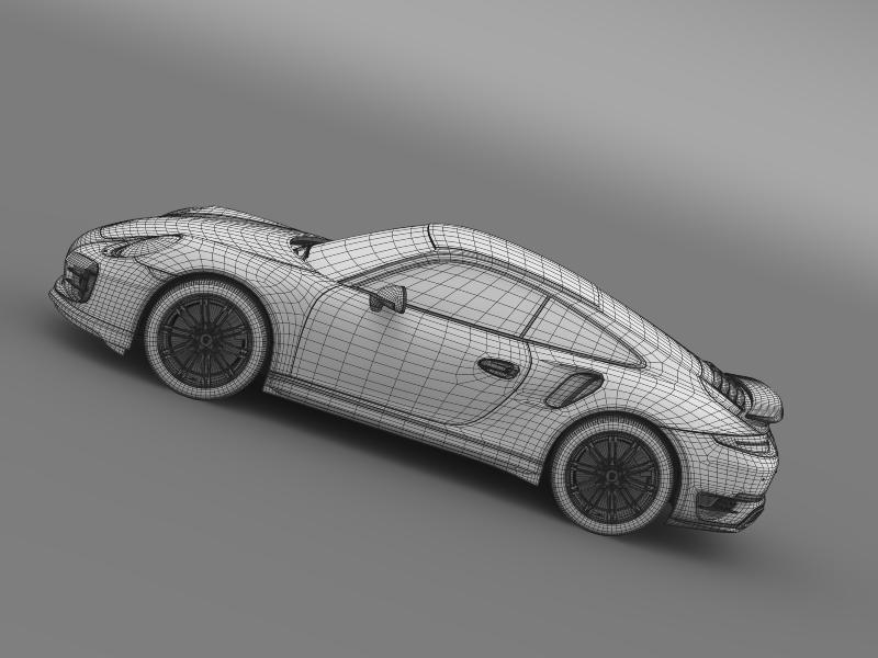 porsche 911 turbo 2013 3d model 3ds max fbx c4d lwo ma mb hrc xsi obj 156088
